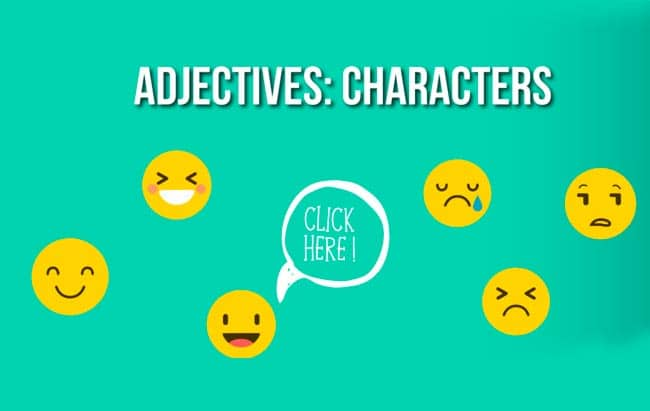 adjectives character